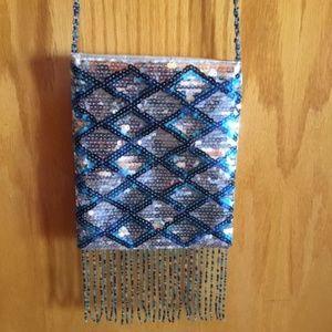 FASHION EXPRESS silver/blue purse